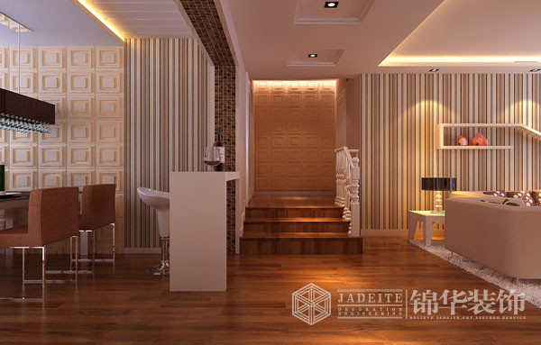 阿尔卡迪亚-简约-韩非装修-三室两厅-现代简约