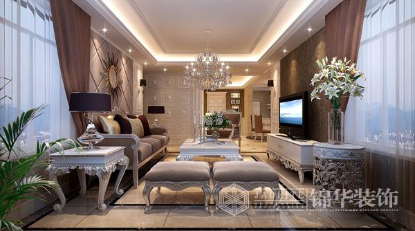 中茵.龙湖国际-新古典奢华-韩非装修-三室两厅-欧式古典