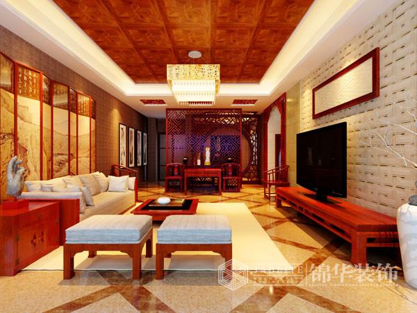 中式作品赏析-张安装修-大户型-新中式