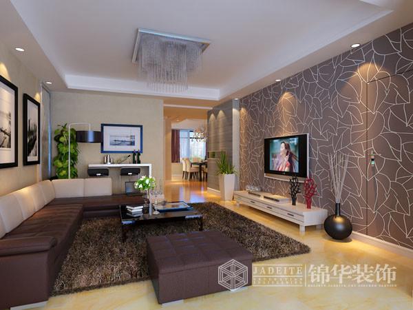 现代风格作品欣赏-张安装修-三室两厅装修效果图