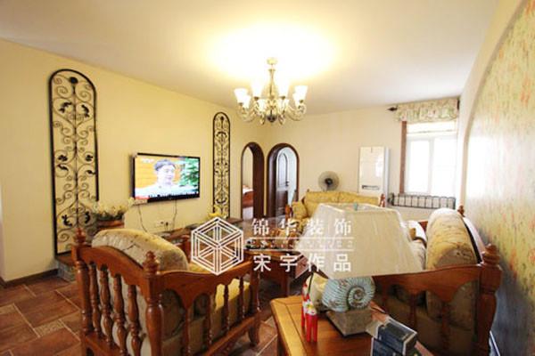 三室两厅装修效果图 美式乡村 田园 风格 徐州锦华装饰