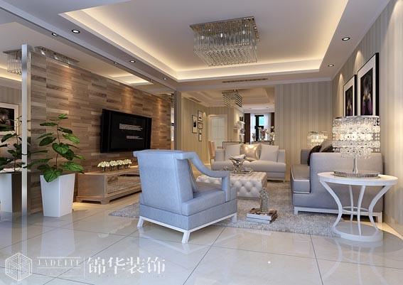 太湖国际135平三室两厅两卫现代风格效果图 装修-三室两厅-现代简约