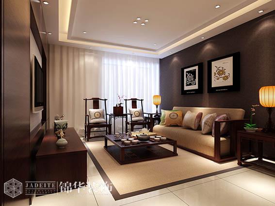理想城市两房两厅中式风格效果图 装修-两室两厅-新中式
