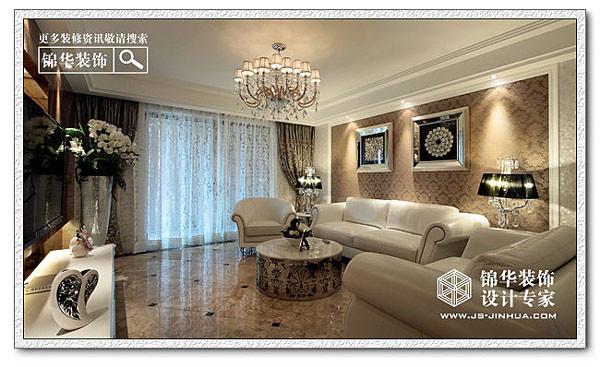 白色魅影-瑞园装修-三室两厅-新古典