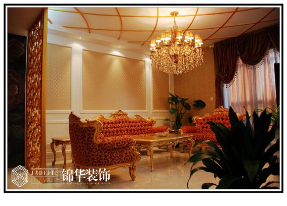 茂业豪园宫廷洛可可风格实景样板间装修 三室两厅装修效果图 简欧风