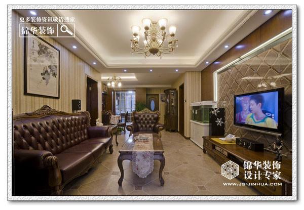 暖意-仙龙湾装修-三室两厅-简欧