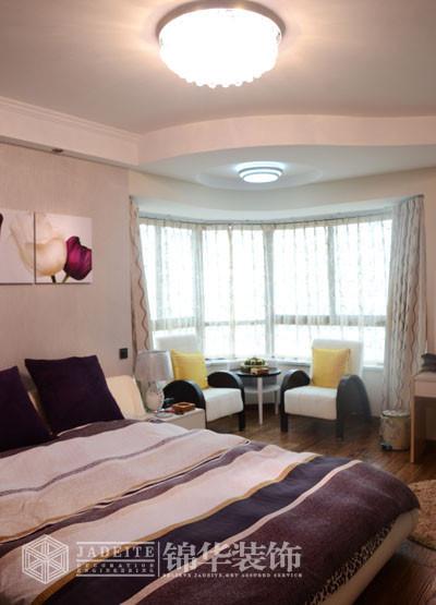 现代简约装修 三室两厅装修效果图 现代简约风格 盐城锦华