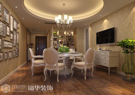 山水湖滨143平三室两厅两卫欧式风格效果图装修-三室