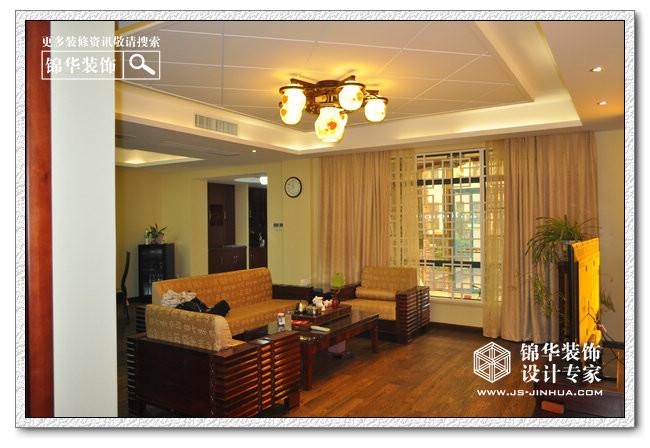 威尼斯水城花园洋房装修-三室两厅-新中式