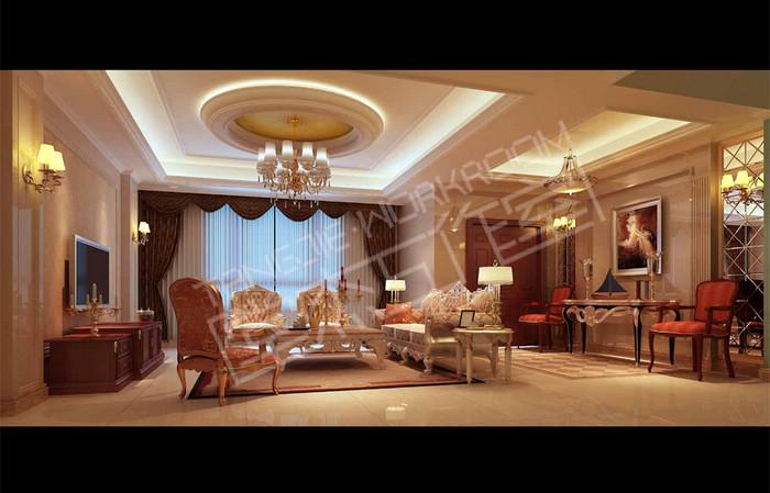 客厅简约欧式吊棚