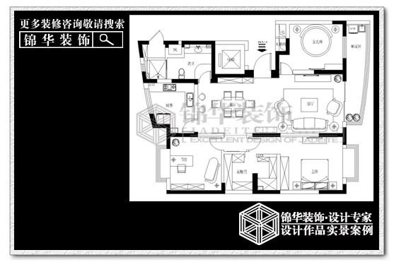 全景大厦(最新作品)装修-三室两厅-简欧
