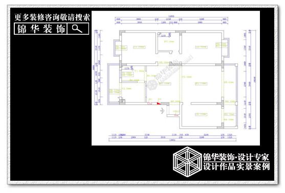苏建花园城装修-三室两厅-简欧
