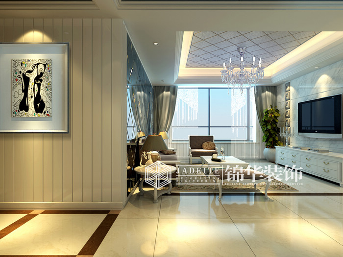 客厅装修效果图-装修图片-扬州锦华装饰