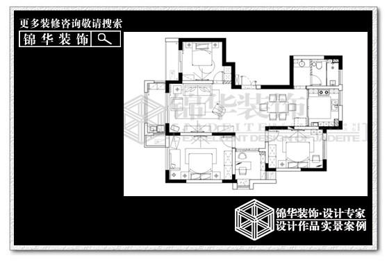 城市嘉苑装修-三室两厅-简欧