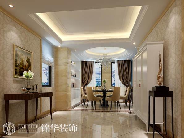 长江国际143平三室两厅两卫简欧风格效果图 装修-三室两厅-简欧
