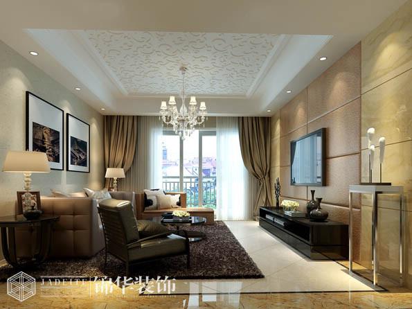 太湖国际121平三室两厅一卫现代简约风格效果图 装修-三室两厅-现代简约
