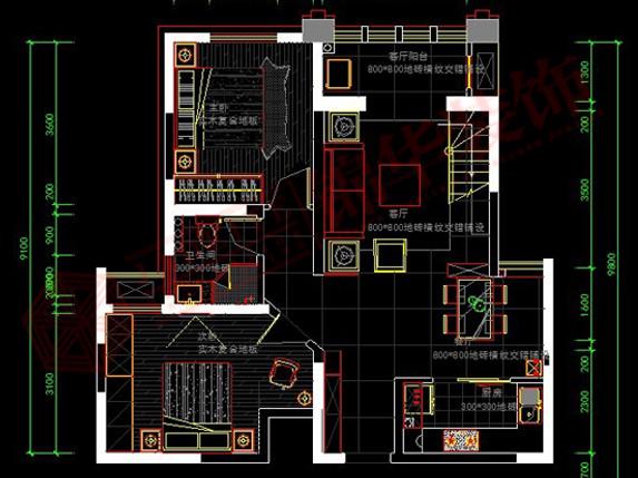 世茂东都装修-三室两厅-现代简约