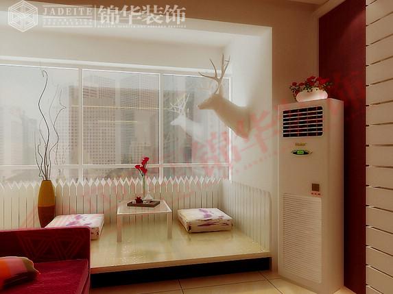 客厅飘窗参考效果图-阿尔卡迪亚装修 三室两厅 现代简约 徐州锦华装饰