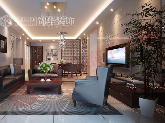 中式风—天山绿洲装修-三室两厅-新中式