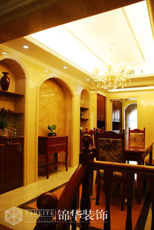 天池湾143平简欧风格实景样板房装修-三室两厅-简欧