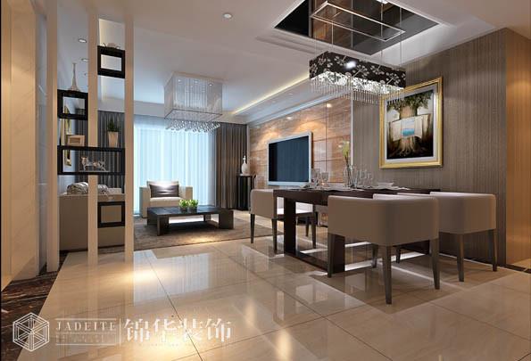 阳光国际160平四室两厅两卫现代简约风格效果图