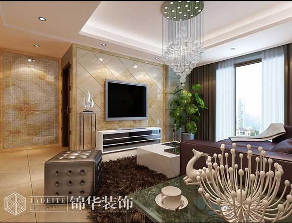 中富美林湖130平三室两厅两卫现代简约风格效果图