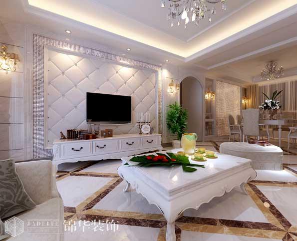 金科米兰140平三室两厅简欧风格实景图