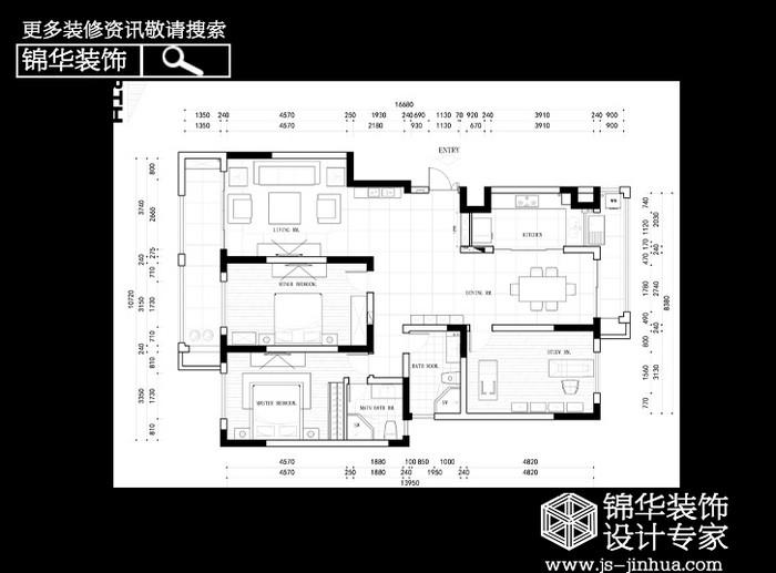 濠河经典装修-三室两厅-简欧
