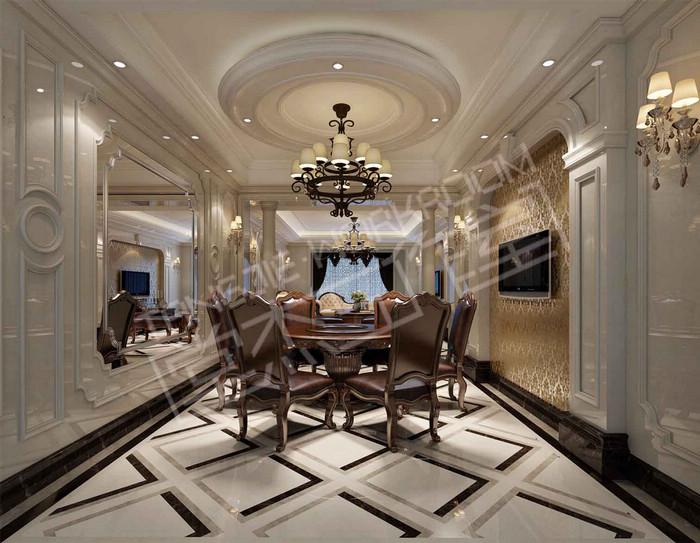保利香槟 国际170平新古典风格效果图 装修 大