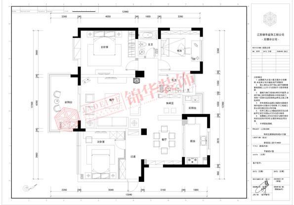 新梁溪人家139平三室两厅现代简约风格效果图 装修-三室两厅-现代简约