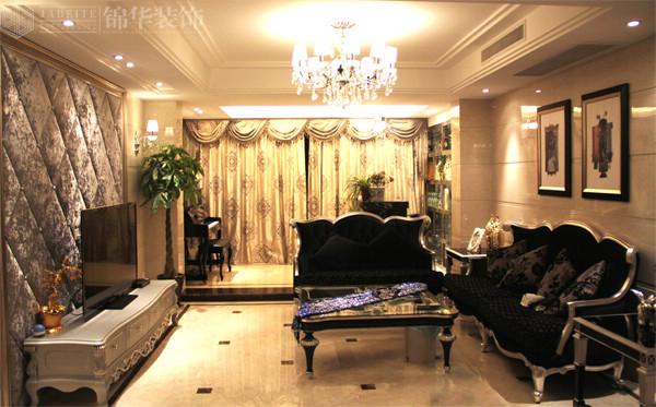 低调奢华风韵装修-三室两厅装修效果图-新古典风格