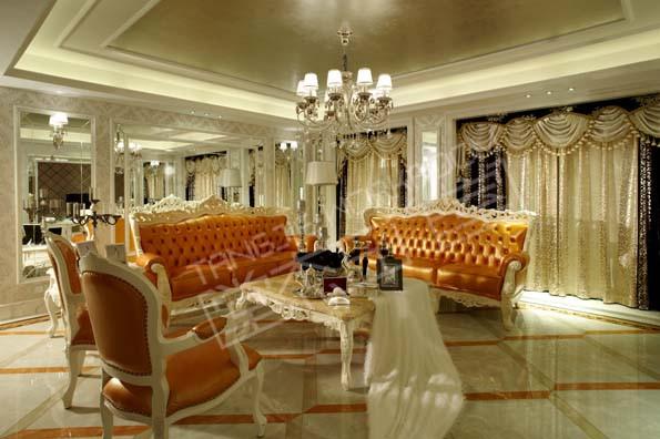 太湖国际大户型后奢华风格实景样板间装修-大户型