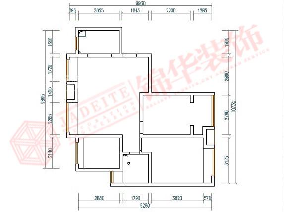 龙商天骄3—1—2704装修-两室一厅-现代简约