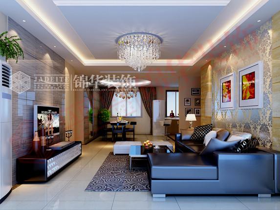 龙商天骄140平方—现代风格装修-三室两厅-现代简约