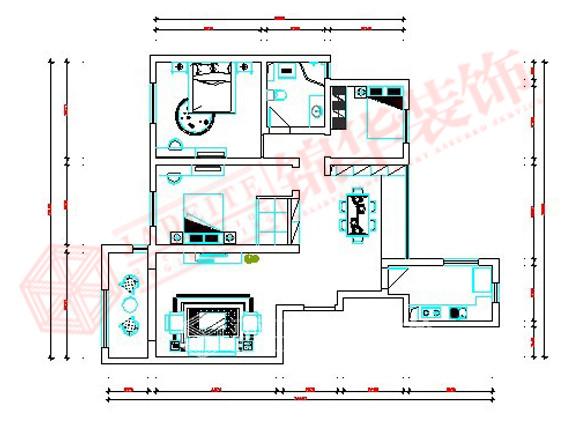 龙商天骄2号140平方装修-三室两厅-现代简约