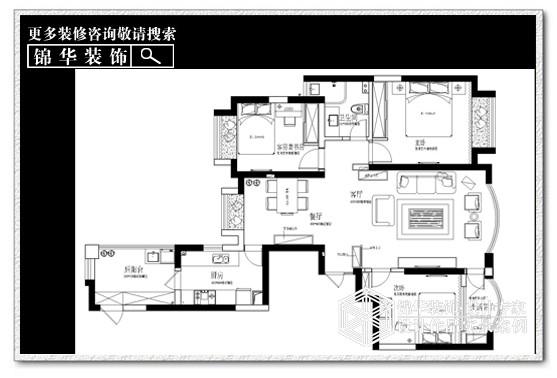 中南世纪花城装修-三室两厅-简欧
