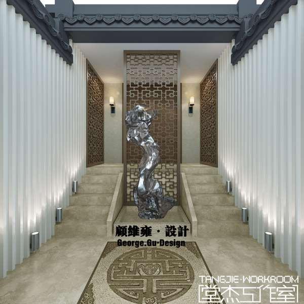 古韵坊600平别墅新中式风格效果图装修-别墅-新中式