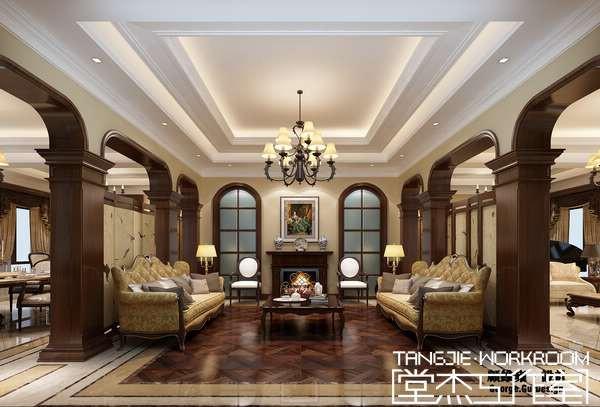 威尼斯花园1000平别墅美式风格效果图