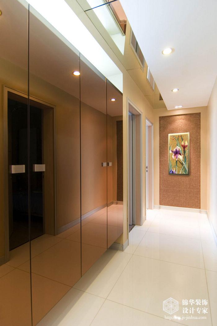 现代简约风格-融创熙园-大户型-170平米-过道-装修实景效果图