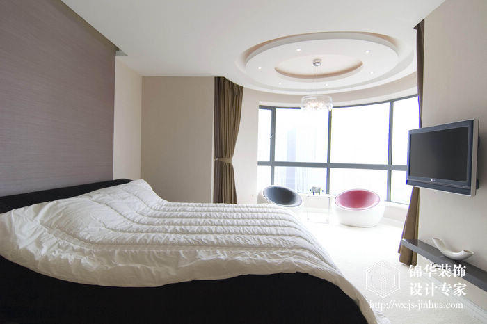 现代简约风格-融创熙园-大户型-170平米-卧室-装修实景效果图