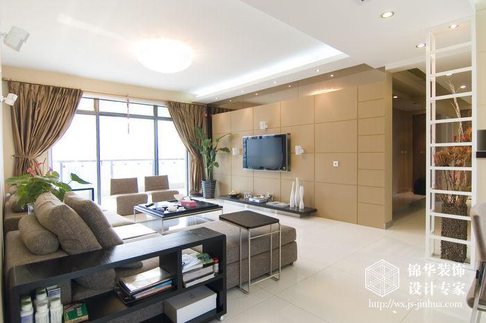 现代简约风格-融创熙园-大户型-170平米-客厅-装修实景效果图