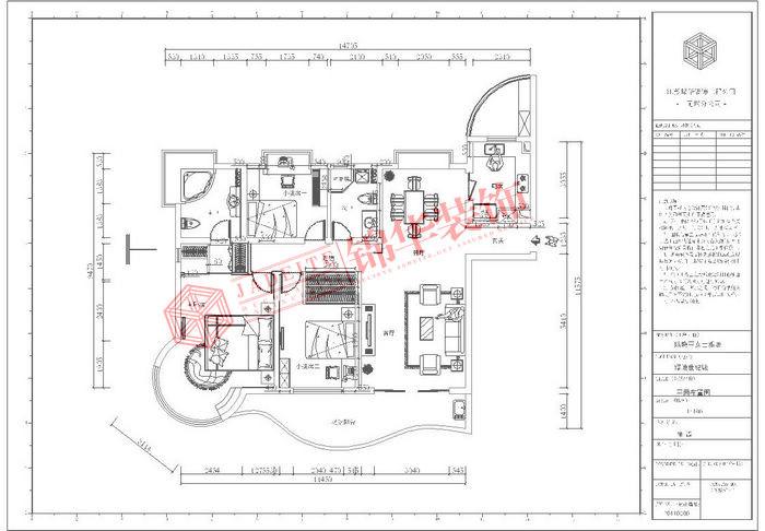 现代简约风格-融创熙园-大户型-170平米-户型图-装修实景效果图