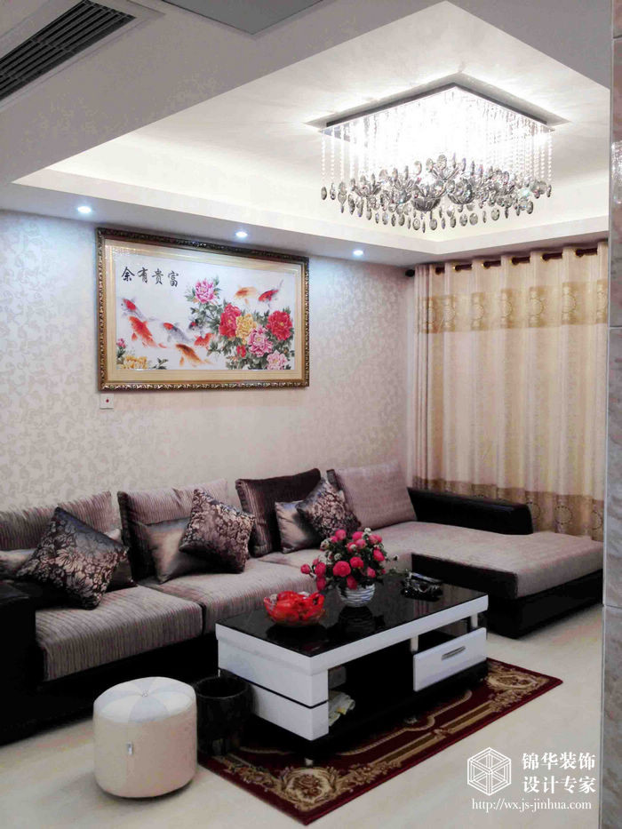 富城湾120平现代简约三室两厅两卫实景图装修-三室两厅-现代简约