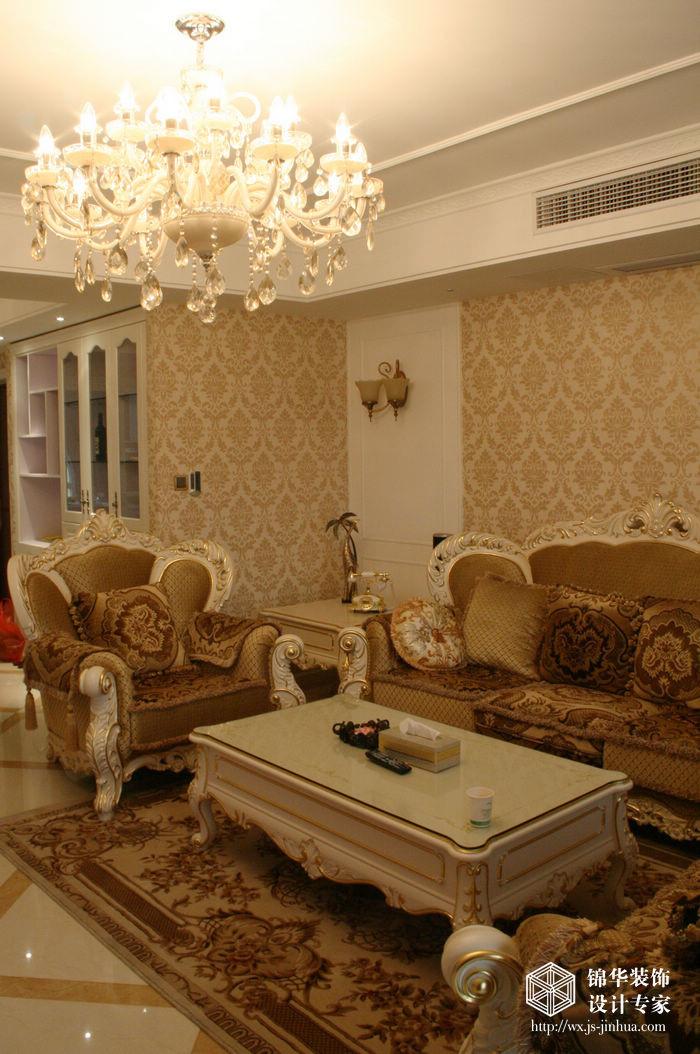 融科玖玖城130平三室两厅两卫简欧风格实景图装修-两室两厅-简欧