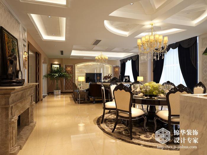 马山厂房250平四室两厅两卫欧式风格效果图