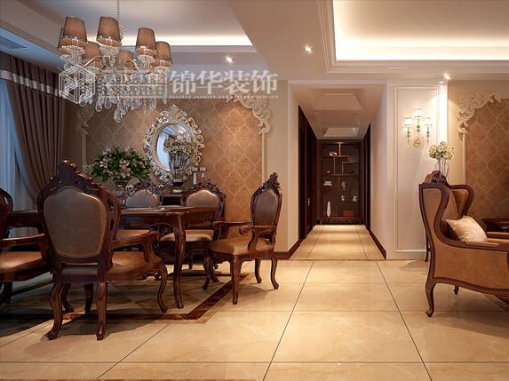 龙商天骄—古典欧式装修-三室两厅-新古典