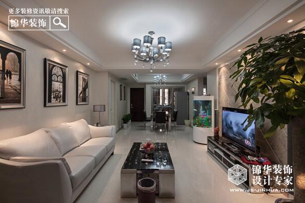 复地新都国际-惬意的都市生活装修-三室两厅-现代简约