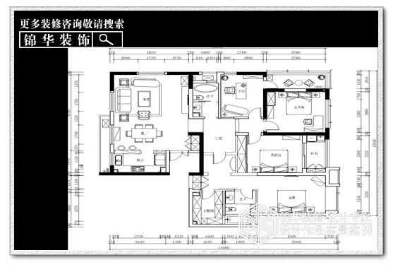 中南世纪城装修-三室两厅-简欧