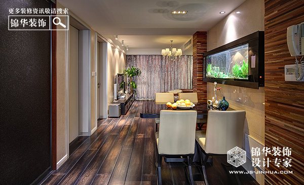 大地豪庭装修-两室两厅-现代简约