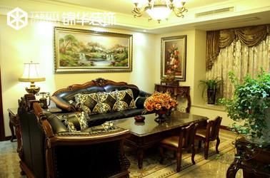 简欧风格-西城逸品-三室两厅-260㎡装修实景效果图